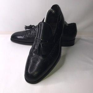 Vintage Bostonian USA Black Tassel Loafers 10.5